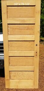 32 X 79 1 2 Raised 5 Panel Pine Door