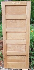 32 X 80 Raised 5 Panel Pine Door