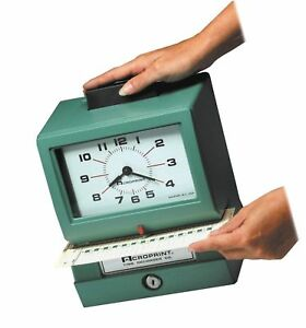 Acroprint 01 1070 411 Model 125nr4 Heavy duty Manual Print Time Recorder Prints