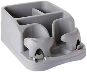 Adjustable Storage Center Console Truck Car Drink Holders Cup Organizer Charcoal