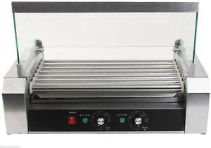 18 Hot Dog Sausages 7 Roller Grill Roast Bbq Barbecue Cooker Commercial Machine