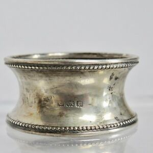 Antique Solid Sterling Silver Napkin Ring Birmingham 1918 With Box