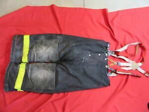 Janesville Firefighter Turnout Gear Bunker Pants 36 X 26 Liner Halloween Costume