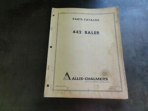Allis chalmers 442 Baler Parts Catalog Manual