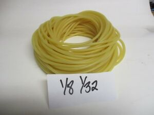 100 Foot Coil Of 1 8 I d X 1 32 Wall Latex Rubber Tubing Amber