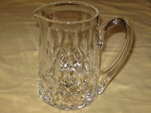 Antique Vintage Heavy Crystal Glass Pitcher 7 Height X 4 Diameter