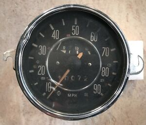 Vintage Used Volkswagen Vw Beetle Bug Bus Speedometer Gauge Made In Germany Old
