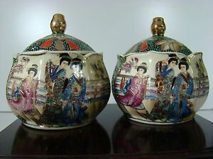 Pair Of Antique Chinese Famille Rose Porcelain Jar