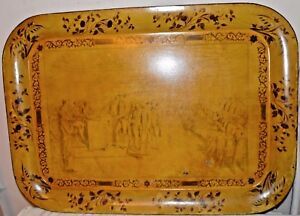 Antique Declaration Of Independence Tole Ware Tray