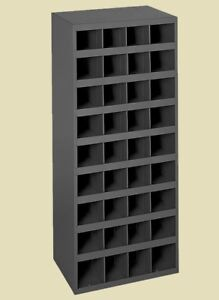 Steel Bin Shelving 36 Pigeonhole Compartments Parts Fittings Storage Bolt Nut