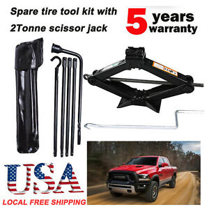 Spare Tire Tools For Ford 2014 2015 Ram 1500 Pickup Truck scissor Jack W Handle