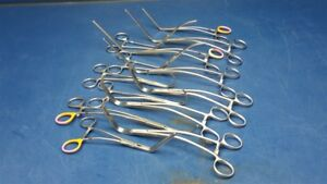 Lot Of 13 Jarit Integra Cardio grip Forceps Cardiovascular Aorta Cooley Clamps