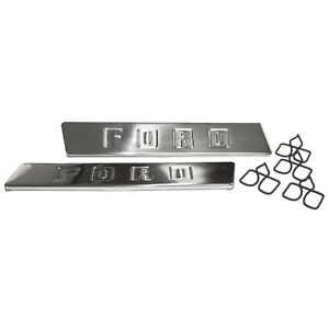 1948 50 Ford Pickup Hood Side Emblems With Clips