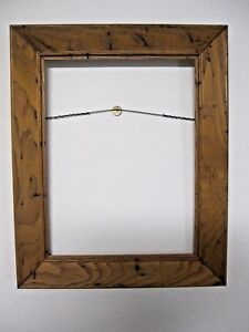 Vintage Wormy Chestnut Wooden Picture Frame 13 X 16 Collectable