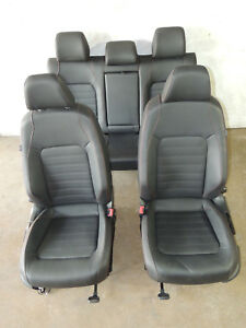 Mk6 Vw Jetta Gli Black Leather Seats Heated Front Rear Bench Set Red Stitch 736