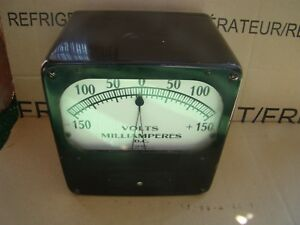 Vintage Weston Electrical Industries Corp Volts Milliamperes Dc Steam Punk