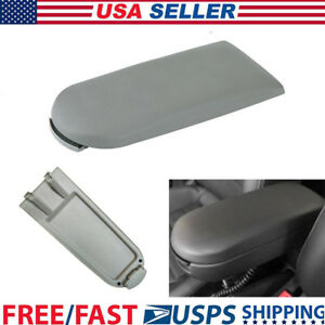 Armrest Cover Lid For Vw Jetta Golf Mk4 Beetle Gray Pu Leather Center Console Us
