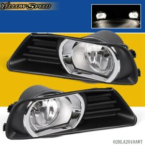 For Toyota 07 09 Camry Bumper Halo Projector Fog Lights W Bulbs Wire Switch Set