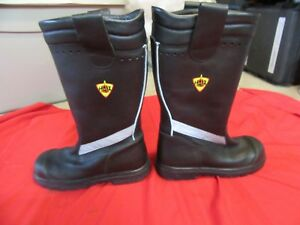 Haix Crosstech Fire Hunter Turnout Gear Mens Firemans Boots 9m Structural