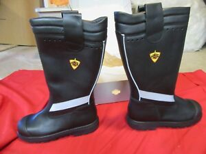 N o s Haix Crosstech Fire Hunter Turnout Gear Mens Firemans Boots 8 W Wide