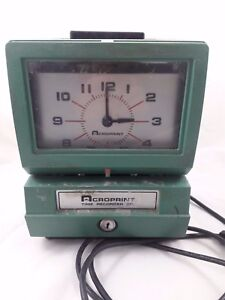 Acroprint 125er3 Heavy Duty Manual Punch Time Clock recorder