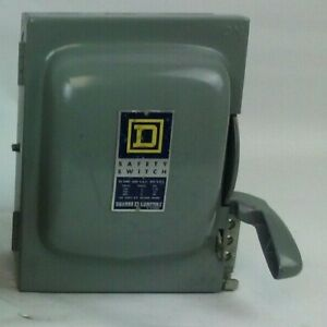 Square D Hu361 Ser D1 H d Safety Switch 30a 600v Non Fusible Indoor New