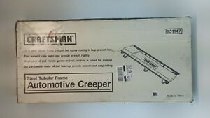 Craftsman Creeper Seat Padded 350 Lb With Metal Frame 6 Wheels
