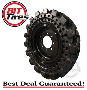 Solid Skid Steer Tires 10 16 5 with Rim Cat John Deere ghel Kubota Volvo