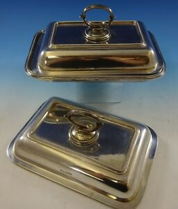 Bead By Walker Hall Sterling Silver Covered Vegetable Dish Extra Cover 2645
