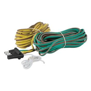 Curt 57220 4 Way Flat Connector Plug With 20 Wires For Trailer Side