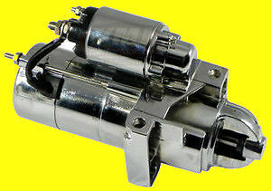Sbc Bbc Chevy Staggered Mini Chrome Starter 3hp New 350 383 Small Big Block