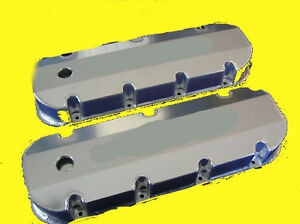 New Bbc Chevy Fabricated Aluminum Valve Covers With Holes Big Block Chevy