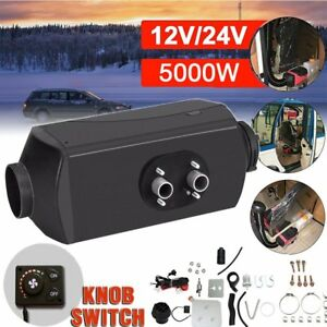 5000w Auto Air Diesel Heater 5kw 12v For Truck boat bus Knob Switch silencer Ga