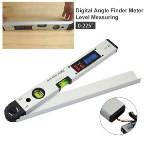 0 225 Degree 400 Mm Lcd Protractor Spirit Level Digital Angle Finder Gauge Meter