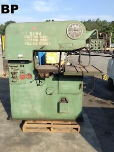 Doall 36 3 36 Variable Speed Contourmatic Vertical Bandsaw W 24 X 30 Table