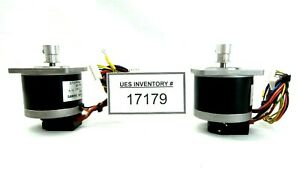 Sanyo Denki 103 7501 7020 Stepping Motor With Encoder Heds 5645 Lot Of 2 Used