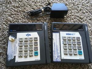 2 Verifone Tranz 380 Credit Card Terminal Machines Only 1 Power Cord working