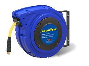 Goodyear Retractable Air Compressor water Hose Reel Max 300psi 3 8 X 65 Ft