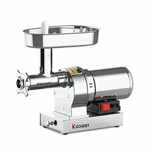 Kitchener 8 Commercial Grade Electric Stainless Steel Meat Grinder 1 2 Hp
