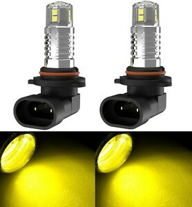 Led 80w 9005 Hb3 Yellow 3000k Two Bulb Light Drl Daytime Replacement Lamp Rally