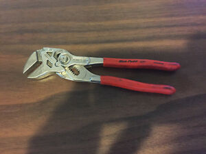 Used Blue Point knipex 7 In Smooth flat Jaw Pliers Part adp 7