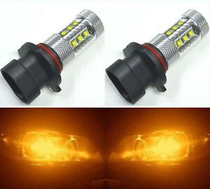 Led 80w 9005 Hb3 Orange Amber Two Bulbs Light Drl Daytime Replacement Lamp
