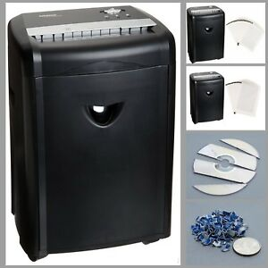 Paper Shredder Micro Cut 12 Sheet High Security Lubricant Office Equipment Black