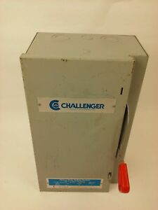 Challenger Hdn221sn Safety Switch Nema 1 Indoor 30a 240v Fusible New