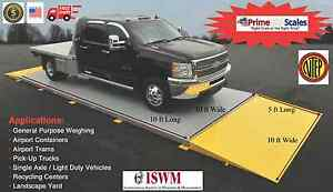 10 Ft X 10 Ft Truck Scale 30 000 Lb Ntep Legal For Trade Axle Scale Car Scale
