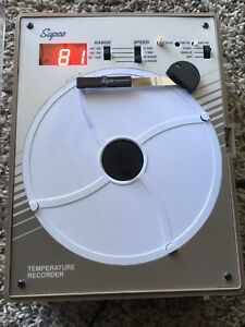 Supco Cr87b Temperature Recorder Comes W Probe power Cord Pens Tested working