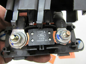 Lincoln Ls Battery Fuse Box Block Link Terminal End 175 Amp 3 9l Engine Cover