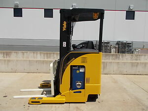 2007 Yale Nr040da Electric Reach Truck Narrow Aisle Forktruck Forklift Stand Up