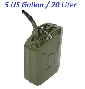 Military Jeep Nato Style Metal Gas Gasoline Diesel Fuel Jerry Can Army Green 5gl