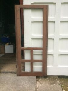 Antique Screen Door New England 5 Panel 19th Century Exterior 80 1 2 X 32